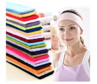 Wholesale Maternity Headbands - Mothers Sports headband Women Sports Yoga Headbands Washing Face Stretch Wide Head Wrap Solid Color Hair Accessories Maternity Headban LA492