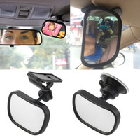 Wholesale back view mirror - R32-012 Car Back Seat Safety View Mirror Baby Rear Ward Facing Car Interior Baby Kids Monitor Safety Reverse Safety Seats Basket Mirror