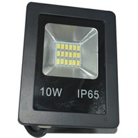led projektörler sıcak beyaz toptan satış-Açık led ışıklandırmalı 10 w ince sıcak beyaz beyaz led sel ışık siyah kabuk taşınabilir su geçirmez IP65 ışıklandırmalı
