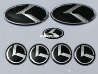 emblema kia preto venda por atacado-7 pcs new black K logotipo emblema emblema para KIA novo Forte YD K3 2014 2015 / emblemas do carro / adesivo 3D