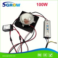 Wholesale Grow Light Set - New DIY Led grow light ,whole set 100w full spectrum led +heat sink+100w driver+secondary lens with reflector +lens