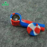 Wholesale Black Tabacco - silicon Smoking Pipes Beatuful Appearance Tabacco Mini Glass Hand Pipes Best Spoon Pipes Mix Color Order S-03