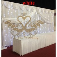 Wholesale Wedding Backdrop Curtain Lights - Wedding Backdrop Curtain \ Stage Background With String Led Lights