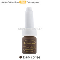 Wholesale Eyebrow Pigment Kit - Wholesale- Chuse 10ml Permanent Makeup Ink 3pcs Dark Coffee Ink Pigment kit For Eyebrow Lip 12Colors To Choose tattooing
