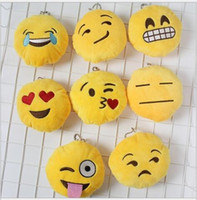 Wholesale International Children s Day gift Emoji Key Chains Emoji Smiley Small Keychain Emotion Expression Stuffed Plush Doll Toy for Mobile Pendant