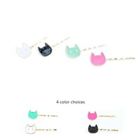 Wholesale Cute Girl China - Color Cats Hairgrips hairwear for Women & girls Multi-color Cats hair clips New Fashion design cute hairpins hair Jewelry for gifts