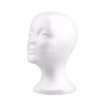 дисплеи из пенополистирола оптовых-Женский пенополистирол парик головы пены манекен манекен головы модель парик волосы очки шляпа дисплей