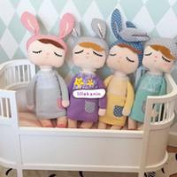 kızlar için metoo bebek toptan satış-2016 Yeni Metoo Peluş Bebek Çocuk kız Erkek güzel dolması bunny INS tavşan oyuncaklar bebekler hediyeler Bebek eşlik uyku doll