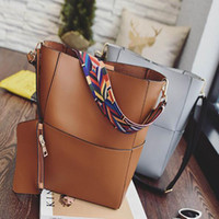 Wholesale Bags Handbags Fashion Colorful Style - Women Shoulder Bags With Colorful Strap Accessories Fashion Female Large Capacity Handbags With Purse PU Leather Totes