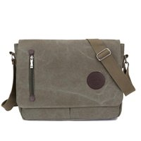 Mochilas de ombro de moda Homem Mulher Vintage Canvas Satchel Messenger Laptop Shoulder Crossbody Sling Bag School Handbag