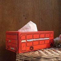 Wholesale England Tin - Wholesale- New Creative Vintage Home Decor Zakka England London Bus Tissue Box Extraction Box Tin 25cm*13cm*9.5cm Removable Tissue Box