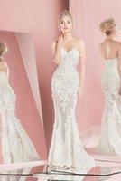 Wholesale Zuhair Murad Dresses Online - Sexy Sweetheart Lace Appliques Beading Sequined Zuhair Murad Wedding Dresses Mermaid Slim Bridal Gowns Custom Online Top Sale