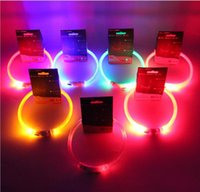 Wholesale rechargeable led dog collar for sale - LED Dog Collar USB Rechargeable Pet Supplies Glowing At Nigh Collar Lead For Small Medium Large Size Pets Cats Dogs Multi Colors And Sizes
