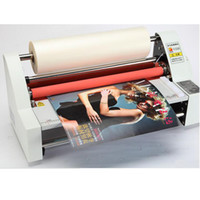 "machines de laminage à chaud achat en gros de-13"" V350 Cold Laminator Four Rollers Hot Roll Laminating Machine electronic temperature control single heating model"