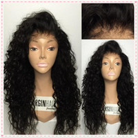 Wholesale Indian Curly Lace Front Wigs - Top Quality Brazilian Wet and Wavy Human Hair Wigs Brazilian Water Wave Lace Front Wigs Glueless Full Lace Wigs Bleached Knots