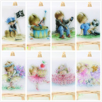 Wholesale Decorative Stamps - Wholesale-Boy and Girl Clear Silicone Transparent Stamp for DIY scrapbooking Planner photo album Decorative craft