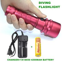 Alonefire DV19 diving Lanterna XML L2 LED subaquática lâmpada impermeável lanterna LED Flash Light 18.650 bateria recarregável + carregador