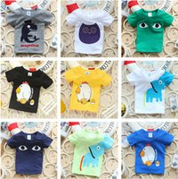 Wholesale Teen Boys Clothing - 2016 Summer New Children More style T Shirts Boys Kids T-Shirt Teen Clothing For Boys Girls Baby Clothing Girls T-Shirts