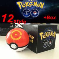 Wholesale Box 7cm High - Zorn toys-Poke Box packing Pokémon go plastic poke ball Greate ball Ultra ball Master ball  13 style High imitation 7cm Pikachu wholesale
