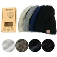 Wholesale Music Fur - 2017 High Quality Music Hat Unisex Fur Thicker Winter Beanie Hat Wireless Bluetooth Smart Cap Headphone Headset Speaker Mic Hot For iphone