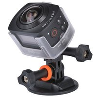 Wholesale Lcd Virtual - Portable 360 Degree Action Camera All View Virtual Reality 3D Glasses Fisheye Camera 1440P@30FPS WiFi Sport Camera