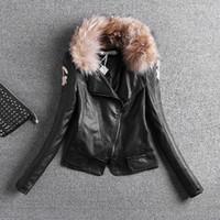 Wholesale Sheepskin Coats Women - 2016 spring high-end thin mutation sheepskin leather coat female PU jacket