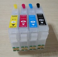 Wholesale Cartridge Epson - for epson T220 T2201 refillable cartridge for Epson WorkForce WF-2530 WF-2540 WF-2630 WF-2650 WF-2660 printer with arc chips (Australia)