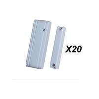 alarmas de puerta de contacto magnéticas al por mayor-Al por mayor-Precio de fábrica 20pcs MD-215R Mini interruptor de puerta magnética puerta de la puerta de contacto Sensor de ventana para ST-IIIB, ST-VGT TCP IP GSM Alarm Casa