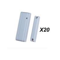 Wholesale Price Alarm Sensor - Wholesale- Factory Price 20pcs MD-215R Mini Door Switch Magnetic Door Contact Door Window Sensor for ST-IIIB, ST-VGT TCP IP GSM Alarm Casa