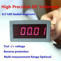 """Wholesale Dc Meter Digit - Wholesale-DC Digital Voltmeter Voltage Panel Meter LED Red Display 0.56"""" 5 Digits Four Wires High Precision Range + -200mV 2V 200V 600V"""
