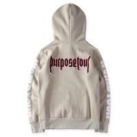 Wholesale Kpop Sweatshirt - Purpose tour hoodie men justin bieber hip hop streetwear kpop clothes women harajuku hoodies kanye y ee zus sweatshirt pullover