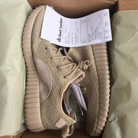Wholesale Brown Oxfords - (With Box) 2017 350 V1 Boost v1 Turtle Dove Pirate Black Oxford Tan MoonRock Running Shoes 350 Socks Receipt Keychain