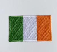 ingrosso patch personalizzati-Irlanda, cioè ferro patch ricamato su abbigliamento sportivo cappotto bambino Accessori bandiera nazionale bandiera personalizzata patch