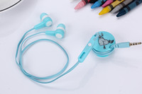 Wholesale Chinese Arrows - Free Shipping EV87 Fashion Cupid Arrow wired earphone Kawai cartoon Headset Lovely In ear mic Earbud with cable wire Hub Robbin Winder