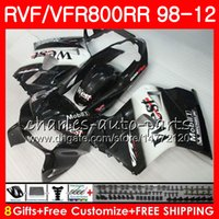 Wholesale West Fairings - VFR800 For HONDA Interceptor VFR800RR Black west 98 99 00 01 02 03 04 12 90NO56 VFR 800 RR 1998 1999 2000 2001 2002 2003 2004 2012 Fairing