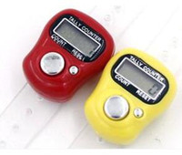Wholesale mini electronic counter resale online - Mini Hand Hold Band Tally Counter LCD Digital Screen Finger Ring Electronic Head Count Tasbeeh Tasbih