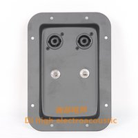 speaker mounting plate - Professional stage speaker junction box mounting plate iron board double Small mm speaker accessories