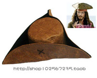Wholesale Pirate Costume Jack Sparrow - Wholesale-Adults Halloween Party Hat Cosplay Costume Jack Sparrow Pirates Caribbean Jack captain Pirate Wig Pirate Hat pirate B-2916