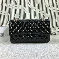 Wholesale Ladies Black Patent Totes - Free Shipping! Hot Sell Newest Style Classic Fashion Patent Leather Women Handbag Bag Shoulder Bags Lady Small Chains Totes bags 1112
