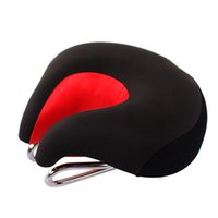 Wholesale Mtb Bicycle Bike Parts - New Men's MTB Mountain Bike Saddle Soft Comfortable Split Nose Cycling Seat Ergonomic Bicycle Parts 440g 5Colors