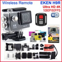 EKEN H9R Ultra HD 4K Sports Camera + 2.4 Controle Remoto Waterproof Wifi ação Cam 2.0 LCD 1080p / 60fps Vídeo HDMI Out