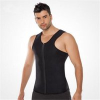 Wholesale Fat Loss Men - Wholesale- 2017 Men T-Shirt Waist Trainer Body Shapers Weight-Loss Hot Shapers Neoprene Workout Slimming Belly Body Shapers Fat Burning