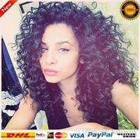 Wholesale Virgin Human Hair Half Wigs - Unprocessed Peruvian Human Hair Lace Front Wigs & Glueless Full Lace Wigs With Baby Hair Virgin Hair Kinky Curly