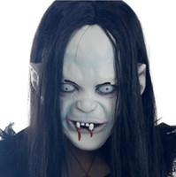 Wholesale Grudge Halloween Masks - Halloween Mask Scary MaskTerrorist Witch Grudge Sadako Masquerade Mask Vendetta Party Mask Simulation People Mask