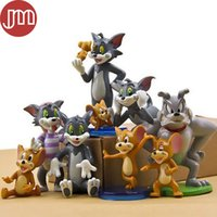 Wholesale Tom New Cat - New 9 PCS Kawaii Tom and Jerry Figure Toys Cat Mouse Dog Cartoon Animals Model Kids Gift Collection Cake Topper Anime Juguetes