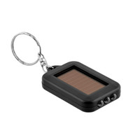Wholesale Mini Solar Powered Led Light - 2016 Mini Portable Solar Power 3LED Light Keychain Torch Flashlight Key Ring Gift Rechargeable Useful Free shipping