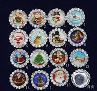 Wholesale Crystal Sewing Buttons - 20mm 50pcs Bling Christmas decoration Rhinestones Buttons Flatback DIY Crystal Button Jewelry Accessory HOT Sewing Craft PB-07 Fashion