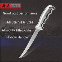 Wholesale Stainless Steel Fishing Knives - Free Shipping NEEF Stainless Steel Kitchen Fillet Knife Stainless Steel Eviscerate Fish Sculpture Knife