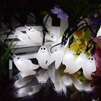 Atacado- ZPAA 6M 30leds Ghost LED Solar String Lights Outdoor Waterproof Lâmpada solar para o Natal Halloween Garden Decoration LED Light
