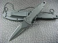 ingrosso benchmade 42 knife-Offerte speciali SW HRT Double EdgeBlack Blade Boot Dagger Coltello w Guaina con caccia al coltello da tiro Outdoor camping Utility Coltelli preferiti